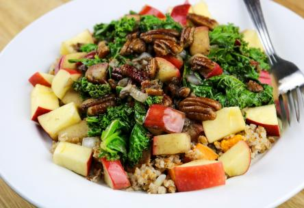 Kale, apple and Freekeh