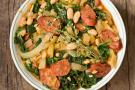 Cannellini Beans with Wilted Arugula and Bacon